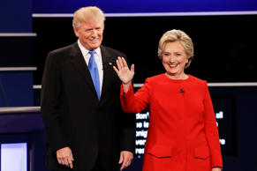 Republican presidential nominee Donald Trump and Democratic presidential nominee...