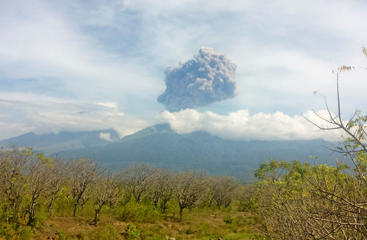 "<span style=""color:#333333;font-size:13px;background-color:#ebebe4;"">Mount Barujari, located inside Mount Rinjani volcano, is seen erupting.</span>"