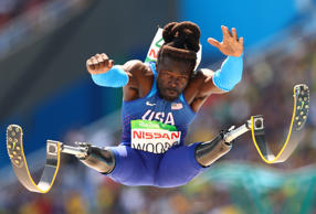 Regas Woods of United States competes in the Men's Long Jump - T42 final during day 10 of the Rio 2016 Paralympic Games at the Olympic Stadium on Sept. 17.