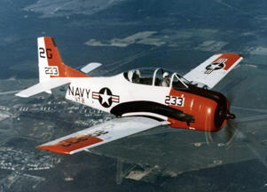 A file photo of a T28 Trojan, similar to the one that made an emergency landing at Ardmore.