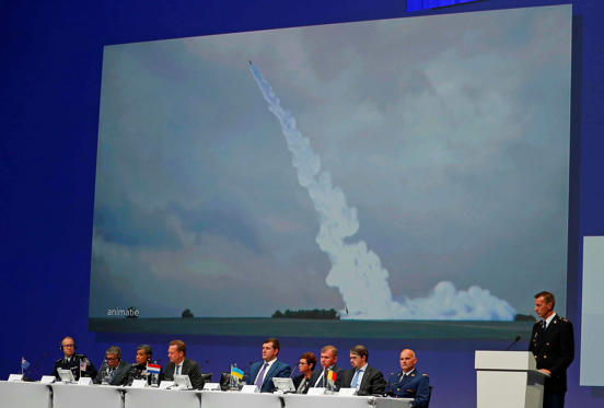 Wilbert Paulissen of the Joint Investigation Team speaks on the preliminary results of the investigation into the shooting-down of Malaysia Airlines flight MH17 during a press conference in Nieuwegein, Netherlands, on Sept. 28.