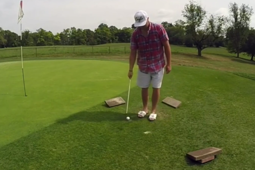 Golfing coach pulls off astonishing trick sequence