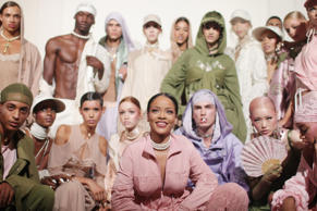 Fenty Puma show, Backstage, Spring Summer 2017, Paris Fashion Week, France - 28 Sep 2016 Rihanna and models backstage