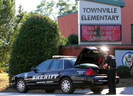 Townville Elementary School after shooting in Townville, South Carolina, U.S.