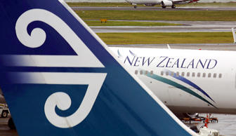 A representative image of an Air New Zealand plane.