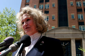 FILE: In this April 20, 2006 photo, Alice Hoagland, whose son Mark Bingham died ...