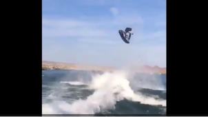 Crazy double backflip on jet ski