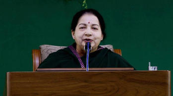 "Tamil Nadu CM Jayalalithaa orders water release from Mettur dam for samba crops: ""We are in a situation of approaching the Supreme Court to receive our share of water from Cauvery,"" Tamil Nadu Chief Minister Jayalalithaa said. (Source: File)"