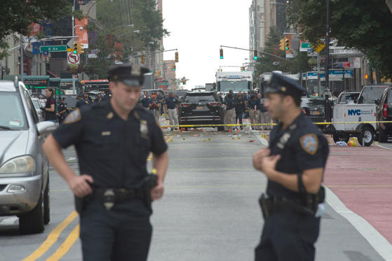 An explosion rocked one of the most fashionable neighborhoods of New York on September 17 night, injuring 29 people, one seriously, a week after America's financial capital marked the 15th anniversary of the 9/11 attacks. Mayor Bill de Blasio indicated the blast was not accidental, even if there was no known link to terrorism. The blast occurred in Chelsea -- an area packed with bars, restaurants and luxury apartment blocks -- at a typically bustling time of the weekend.