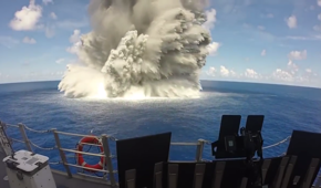 What happens when US warship is pounded with explosives