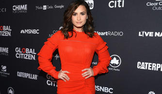 Singer Demi Lovato attends the 2016 Global Citizen Festival