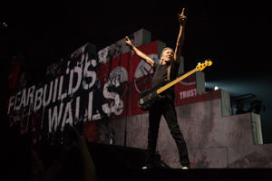 INDIANAPOLIS, IN - JUNE 11:  Roger Waters performs 'The Wall Live' at Bankers Life Fieldhouse on June 11, 2012 in Indianapolis, Indiana.  (Photo by Joey Foley/Getty Images)