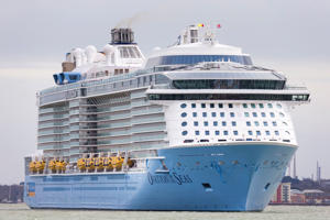 Ovation of the Seas, with 18 decks, is the largest cruise ship ever to visit New Zealand. (file photo)