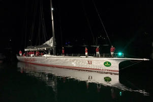 Former race leader Wild Oats XI arrived in Eden two hours before Perpetual LOYAL cruised into Hobart.