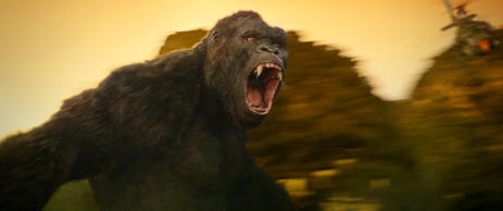 "KONG in Warner Bros. Pictures' and Legendary Pictures' action adventure ""KONG: SKULL ISLAND,"" a Warner Bros. Pictures release."