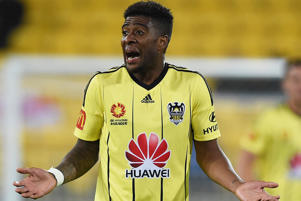 Roly Bonevacia of the Wellington Phoenix during the round one A-League match between the Wellington Phoenix and Melbourne City at Westpac Stadium on October 8, 2016 in Wellington, New Zealand.