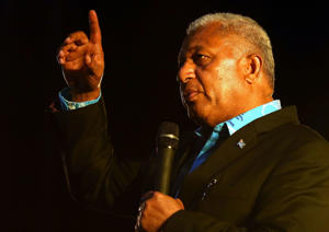Frank Bainimarama during a visit to Auckland in 2014.