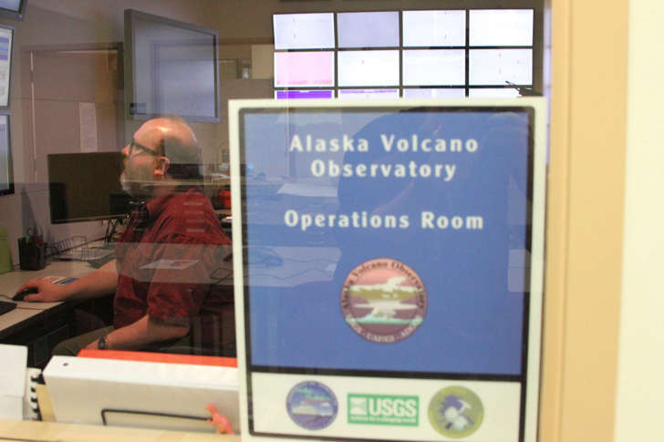 Dave Schneider, a U.S. Geological Survey geophysicist with the Alaska Volcano Observatory, is shown at the operations center Tuesday, March 29, 2016, in Anchorage, Alaska.