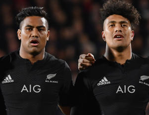 Julian Savea and Ardie Savea of the All Blacks