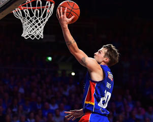 Nathan Sobey of the Adelaide 36ers drives to the basket during the round 12 NBL match between the Adelaide 36ers and the Perth Wildcats at Titanium Security Arena on December 22, 2016 in Adelaide, Australia