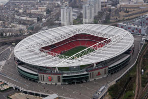 LONDON - MARCH 25:  Arsenal football club's new home the Emirates Stadium in Hol...
