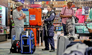 There was a heavy police presence at Fort Lauderdale International Airport after it re-opened on Saturday, Jan. 7, 2017, a day after a shooting in the baggage area of Terminal 2.