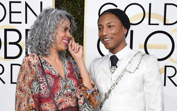 Pharrell and Mimi Valdes