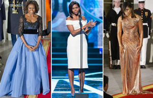 Michelle Obama will not only be remembered for her grit as the First Lady, but also for her impeccable fashion choices. Since the time she arrived in the White House eight years ago, she has experimented with her clothes innumerable times. Be it State Dinners, red carpet or any other formal function, the FLOTUS knows how to carry herself with elegance. Though she has her favorite designers like Jason Wu, Ralph Lauren, and Tom Ford who've given her some iconic looks, she always manages to look stylish whenever she steps out of the White House. Here are some of her memorable looks adorned by her.