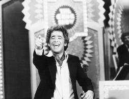 Chuck Barris, the maniacal host-producer of 'The Gong Show' and producer of '$1.98 Beauty Show' reacts during a taping session of one of his Gong shows.
