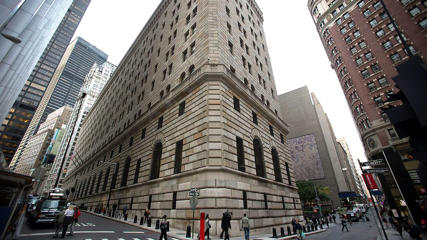 The Federal Reserve Bank building in New York.