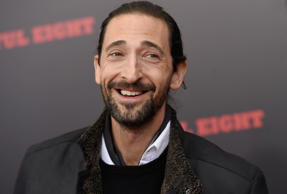 "Adrien Brody attends the premiere of ""The Hateful Eight"" at the Ziegfeld Theatre on Monday, Dec. 14, 2015, in New York."