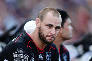 Simon Mannering of the Warriors.