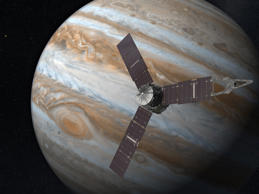 Juno spacecraft - 2016 Artist's impression of the Juno spacecraft and Jupiter