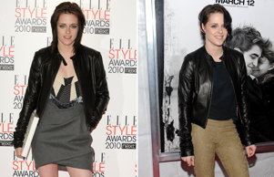 Kristen Stewart backstage at the Elle Style Awards 2010 at The Grand Connaught Rooms in Covent Garden, London; Actress Kristen Stewart attends the premiere of 'Remember Me' at the Paris Theater on Monday, March 1, 2010 in New York. (AP Photo/Evan Agostini)