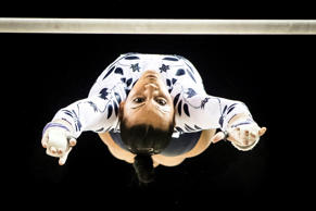 Rebecca Downie wins bronze in the Women's Uneven Bars during day three of the 20...