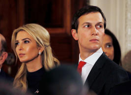 FILE PHOTO -- Ivanka Trump and her husband Jared Kushner watch as German Chancel...