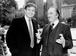 UNITED STATES - NOVEMBER 06:  Donald Trump and father Fred Trump at opening of Wollman Rink.  (Photo by Dennis Caruso/NY Daily News Archive via Getty Images)