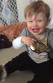 Baby boy can't stop laughing
