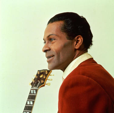 Slide 1 of 14: CHICAGO - CIRCA 1960: Rock and roll musician Chuck Berry poses for a portrait in circa 1960 in Chicago, Illinois. (Photo by Michael Ochs Archives/Getty Images)