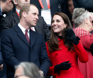 Britain's Prince William, Duke of Cambridge, and his wife Kate, Duchess of Cambridge attend the Six Nations rugby match France against Wales at the Stade de France stadium, Saturday, March 18, 2017 in Saint-Denis, outside Paris. (AP Photo/Thibault Camus)