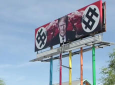Controversial anti-Trump billboard not going anywhere, owner says