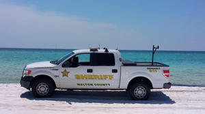 File photo of a Walton County Sheriff vehicle on the beach.