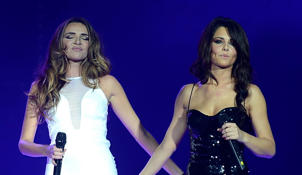 Nadine Coyle and Cheryl Cole