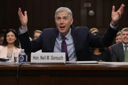 Judge Neil Gorsuch testifies during the second day of his Supreme Court confirmation hearing before the Senate Judiciary Committee in the Hart Senate Office Building on Capitol Hill March 20, 2017 in Washington, DC.