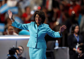 In this July 27, 2016, file photo, U.S. Rep. Maxine Waters, D-Calif., takes the stage to speak during the third day of the Democratic National Convention in Philadelphia.