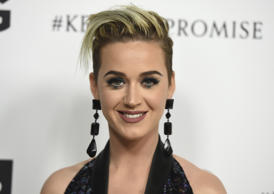 Katy Perry arrive at Elton John's 70th Birthday and 50-Year Songwriting Partners...
