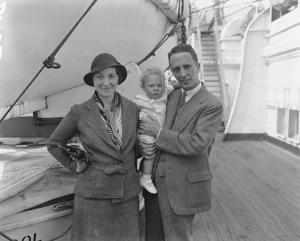 Norman Rockwell, the artist, and his wife and son, Jerry, shown on board the S.S. Berengaria in New York City on Sept. 23, 1932, when they returned to the United States after spending seven months abroad. (AP Photo)