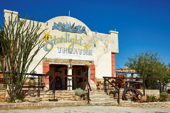 Slide 4 of 16: Starlight Theatre, Terlingua Ghost Town, USA. (Photo by: Loop Images/UIG via Getty Images)