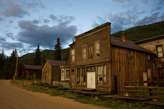 Slide 3 of 16: Ghost town, St Elmo, Colorado, USA, July 2008