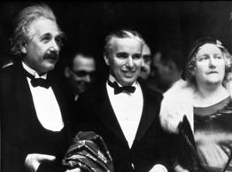 "With physicist Albert Einstein and his wife Elsa Löwenthal at the premiere of ""City Lights"" at the Los Angeles Theater in Los Angeles, California on Jan. 30, 1931."
